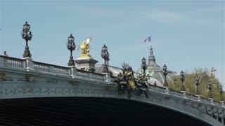Bridge of Alexandre III and Grand Palais. Paris, France