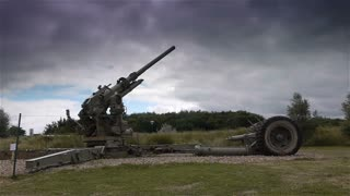 Canon at Utah Beach D-day museum, Normandy France
