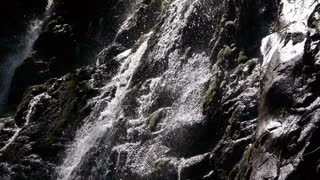 Cascade or waterfall in black and white colors