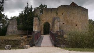 Castle Crevecoeur en Auge gate in Normandy France