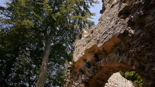 Castle ruin Chateau Ganne in Normandy, PAN