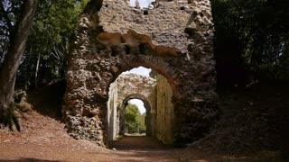 Castle ruin Chateau Ganne in Normandy