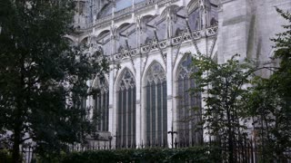 Cathedral of Rouen side exterior, Normandy France