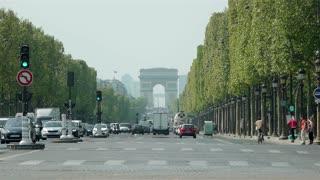 Champs - Elysees and Arc de Triomphe Paris
