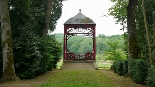 Chinese arbor at Canon Castle garden, France