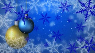 Christmas background seamless loop blue