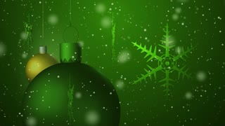 Christmas background seamless loop green
