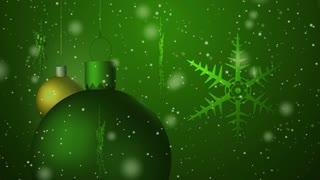 Christmas background seamless loop green
