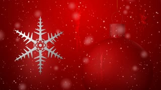 Christmas background seamless loop red