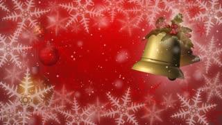 Christmas bells seamless loop red