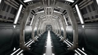 Corridor with opening door and alpha matte