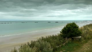 D Day coastline at Arromanches, France