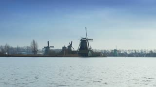 Dutch mills in Holland 4K