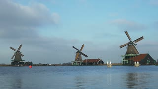 Dutch windmills in Holland 4K