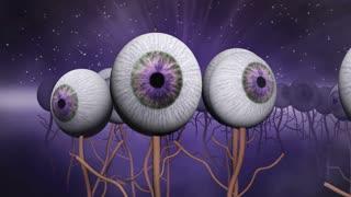 Eye planet purple