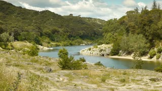 Gardon river at Pont du Gard, France