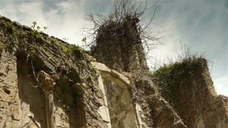 Historic wall at St Guilhem le Desert, Cevennes France