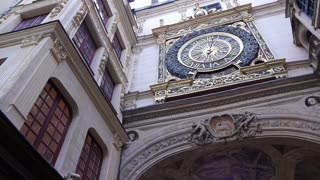 Historical clock in Rouen, Normandy France, PAN