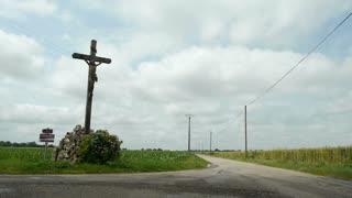 Holy cross along the way