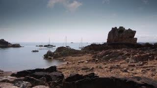 Ile de Brehat island seaside. Bretagne France
