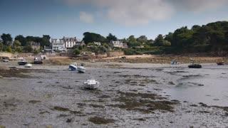 Ile de Brehat seashore. Bretagne France