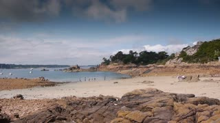 Ile de Brehat seaside. Bretagne France