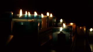 Illuminated church candles
