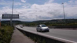 LE HAVRE, FRANCE - 15 AUGUST, 2018: Pont de Normandy highway