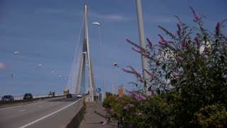 LE HAVRE, FRANCE - AUGUST 15, 2018: Pont de Normandy