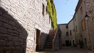 Little old medieval street, France