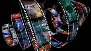 Loop-able animation of rotating film reels