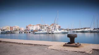 Luxury harbour at mediterranean sea, south France