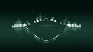 Music VU meters. Green vintage. Seamless loop-able 4K