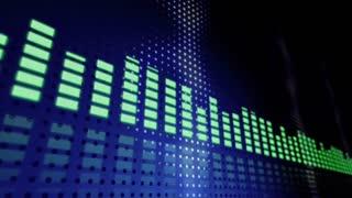 Music VU meters perspective seamless loop