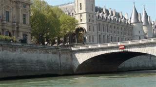 Napoleon bridge over the river Seine. Paris, France