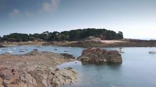 Natural harbor at Ile de Brehat. Bretagne France