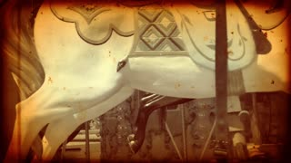Old carousel with vintage look