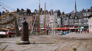Old harbor of Honfleur in France
