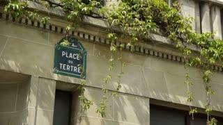Place du Tetre sign at Montmartre. paris, France