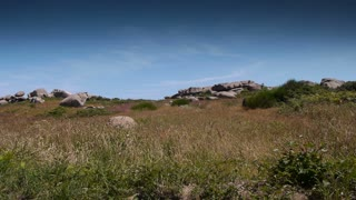 Ploumanach. Red granite rocks. Bretagne France