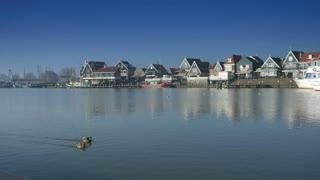 Quay at Volendam, The Netherlands 4K