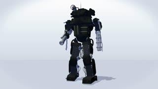 Robot walking - seamless loop