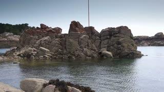 Rocks at the seaside of Ile de Brehat. Bretagne France