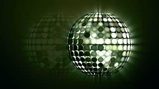 Rotating disco sphere green
