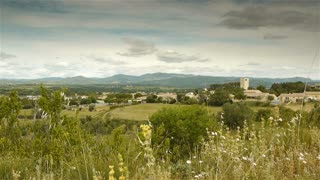 Scenic landscape of the Languedoc, south France