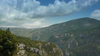 Scenic landscape Pre Alpes in South France