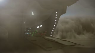 Science fiction panthers jumping out of an cargo plane - 24 fps