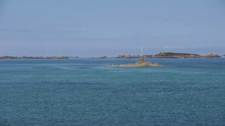 Sea and rocks at Ile de Brehat. Bretagne France