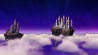 Sky-castles hovering above clouds
