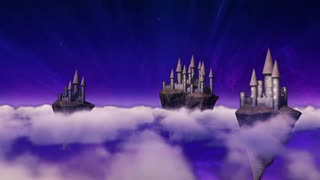Sky-castles hovering above clouds